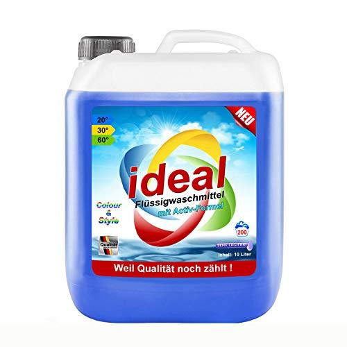10 Liter ideal Color Flüssigwaschmittel Waschmittel Konzentrat mit Aktiv-Formel