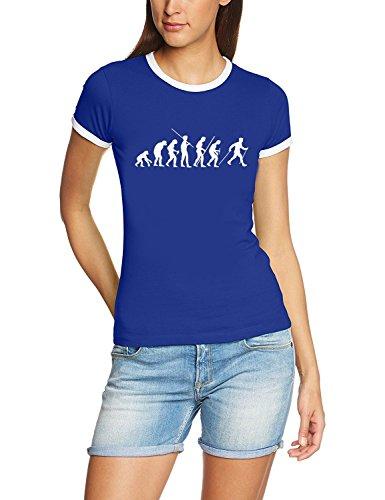 Coole-Fun-T-Shirts T-Shirt Nordic Walking Evolution RINGER, blau, S, 10738_RIGI-Blau_GR.S