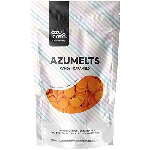 Azumelts - Cobertura para Repostería para Cubrir, hacer Dripping o Dibujar en Dulces - 250 G (Naranja)