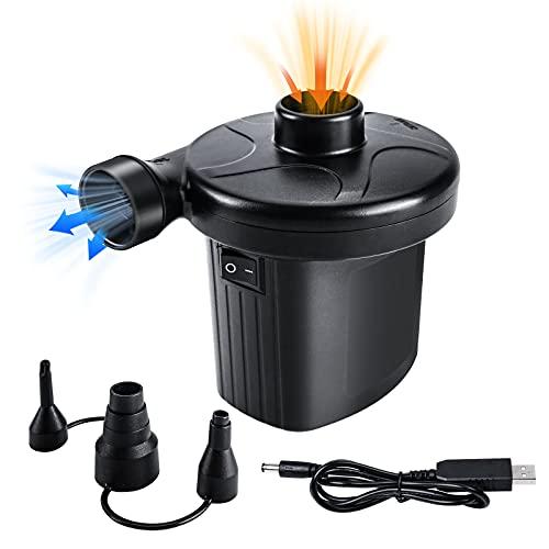 Oziral Bomba de Aire Eléctrica, Recargable Inflador Electrico Portátil Hinchador Electrico con...