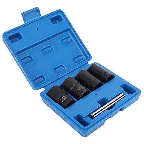Yagosodee Extractor de tuerca de neumático de coche cromo molibdeno acero socket tornillo varilla herramienta reparación negro