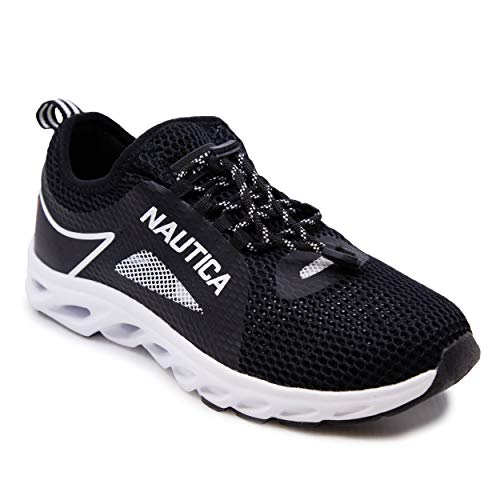 Nautica Men's Water Shoes Jogging Quick Dry Pool Sports Sneaker -Aivin-Black-13