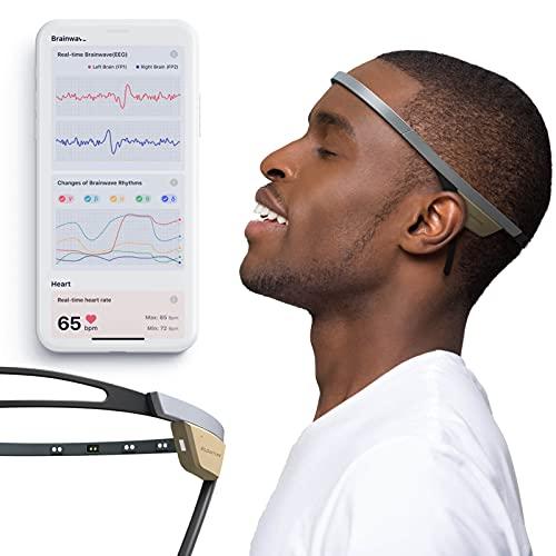 Flowtime: Biosensing Meditation Headband - Meditation Tracker - Heart Rate and Brainwave Sensors to Measure Breath, HRV, Pressure, Focus and Calm States