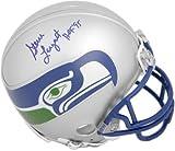 Steve Largent Seattle Seahwks Autographed Mini Helmet with'HOF 95' Inscription - Fanatics Authentic Certified