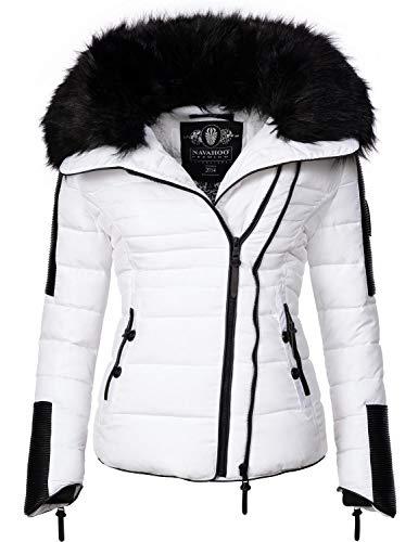 Navahoo Damen Jacke Winterjacke Steppjacke Yuki2 Weiß Gr. XS