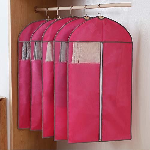 QFFL Sac de compression sous vide Housse de protection, style de protection anti-poussière costume jaquette sac de rangement pour la maison manteau transparent (un paquet de 5) Sac de protection