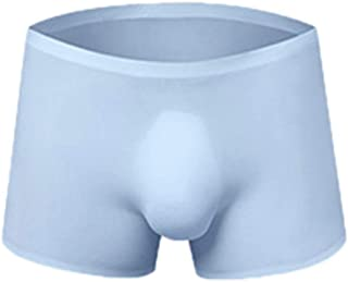 Mens Without Any Stitching Ice Silk Pouch Boxer Briefs