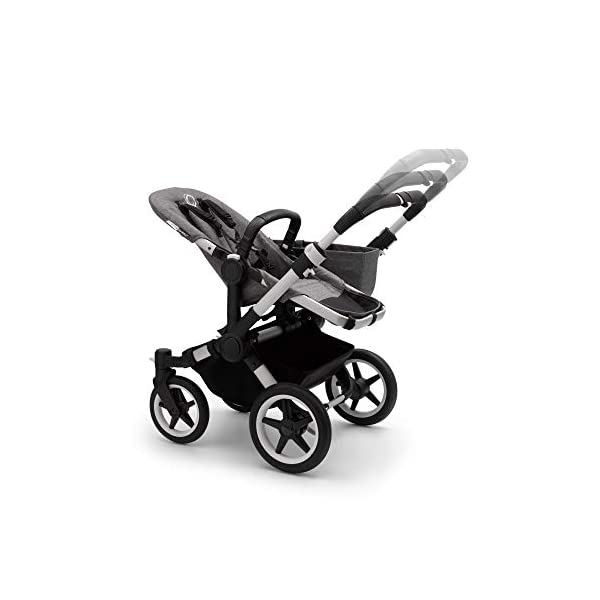 Bugaboo Donkey 3 Twin Extention Set Complete - converts Single into Twin Side by Side pram and Pushchair, Foldable Lightweight Stroller with Grey mélange Sun Canopy and Aluminium Chassis Bugaboo Grows with your family: With two children to think about, the Mono single pushchair converts to a Twin pram or Duo carrycot and pushchair with separately available extension sets Smaller than you think: Expands to just 74 cm wide in Duo or Twin mode fitting standard doorways, folds to carry, extra storage space and durable materials, the only pushchair your family will need Lightens your ride: Easy to manoeuvre with 1 hand steering, large tires ensure a safe, smooth ride on all terrain even if fully loaded, it can hold up to 22 kg making it suitable from birth to toddler 8
