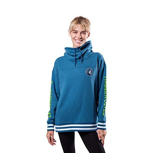 Ultra Game NBA Minnesota Timberwolves Womens Quarter Zip Fleece Pullover Sweatshirt with Zipper, Team Color, Medium