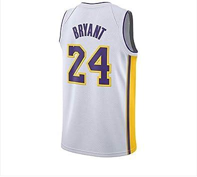 S-XXL Camiseta de Malla sin Mangas con Cuello en V Los Angeles Lakers Kobe Bryant # 24 Camiseta de Baloncesto para Hombres Adultos