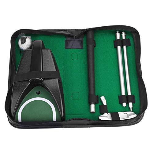 Putter de golf para interiores y exteriores, ayuda de entrenamiento de golpe de bola de palo desmontable, kit de herramientas de golf portátil con bolsa de almacenamiento para entrenamiento de princip