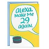 Hallmark Shoebox Funny Birthday Card (Alexa, Make Me 29)