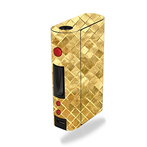 MightySkins Skin Compatible with Kanger KBOX 200W – Gold Tiles | Protective, Durable, and Unique Vinyl Decal wrap Cover | Easy to Apply, Remove, and Change Styles | Made in The USA