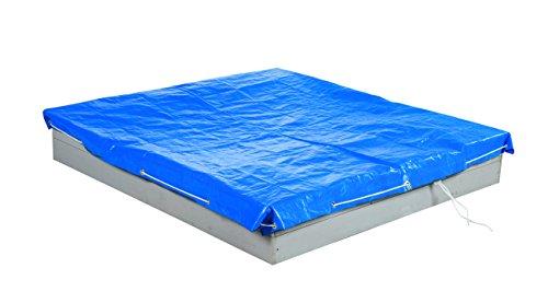 roba 455913BL roba Abdeckplane für Sandkästen groß, 154 x 154 cm, wetterfest und wasserabweisend, Metallösen zur Befestigung, blau