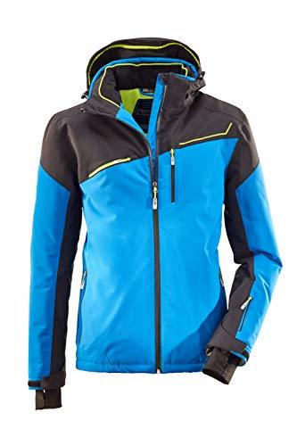 killtec Skijacke Herren Den - Snowboardjacke Herren mit Schneefang - wasserdichte Jacke mit Skipasstasche - atmungsaktiv, himmelblau, L