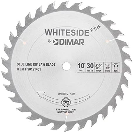 Whiteside Dimar Glue Line Ripping 10 OD 30T 5 8 B TCG Band Saw Blade product image