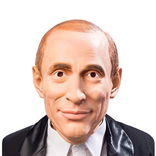 NET TOYS Putin-Maske für Herren | Hautfarben | Originelle Männer-Larve russischer Präsident | Ideal für Fastnacht & Karneval