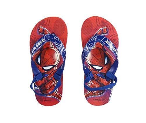 Spiderman Premium Kinder Zehentrenner Flip Badeschuhe Sommerschuhe Sandale Schuhe (30/31 EU)