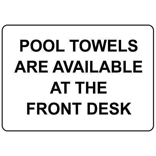 Zwembad handdoeken zijn beschikbaar Aluminium Metalen bord 10 in x 7 in