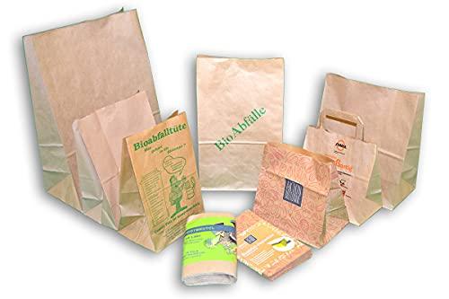 Rodenbacher Papieragentur GmbH 500 St. Bio Kompostbeutel 10 l, 200x160x360 mm, Kompostbeutel, Müllbeutel, Mülltüten, Biobeutel