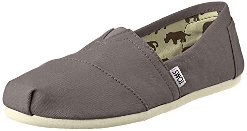 TOMS Womens Classic Canvas Slip On Casual Shoe, Ash, US 5