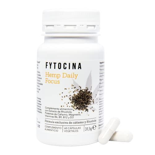Nootrópico Natural Perfecta para Mejorar la Concentración y la Memoria con Rhodiola Rosea, Proteínas de Cáñamo, Magnesio y Vitaminas, sin Cafeína   60 Capsulas Vegetarianos