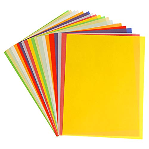 Transparentpapier Bunt, Tonkarton A4 Buntes , Coloured Tracing Paper, Transparent Malpapier Kinder, 20 Sheets Colourful Paper for Crafts, Card Making, Scrapbooking, DIY Decorating Sketches etc.