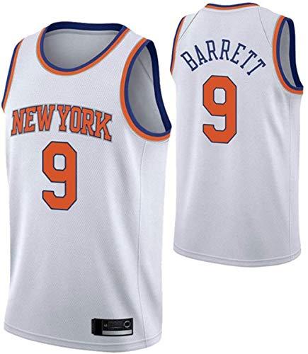 HZHEN Men's NBA Jersey-R.J.Barrett 9# New York Knicks Basketball Ropa, Vintage Cool All-Star All-Star Unisex Uniforme,B,XXL(185~190cm/95~110kg)