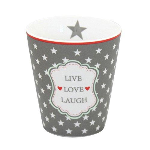 Krasilnikoff - Mug/Becher/Tasse - live Love Laugh - Porzellan - Höhe: 10 cm