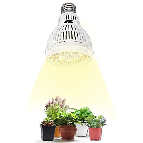 SANSI Pflanzenlampe 15W LED Pflanzenlampe Vollspektrum E27 Weiß Pflanzenlicht für Zimmerpflanzen LED Grow Light Wachstumslampe für Garten, Blumen, Gemüse, Obst