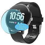 VacFun 3 Pezzi Anti Luce Blu Pellicola Protettiva Compatibile con Smartwatch Smart Watch YoYoFit 1.3' COLMI V11 PLUS, Screen Protector Protective Film (Non Vetro Temperato) Filtro Luce Blu New Version