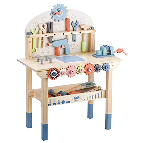 Tool Bench for Kids Toy Play Workbench Wooden Tool Bench