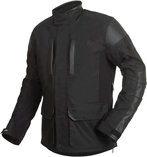 Rukka Melfort Gore-Tex - Giacca in tessuto da moto, colore: nero/argento, taglia 48