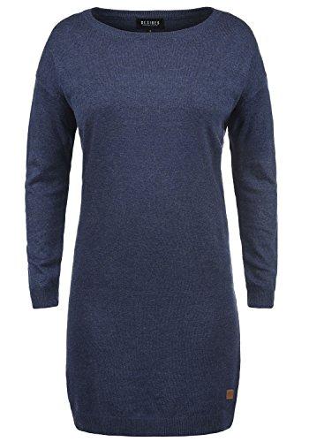 DESIRES Ella Damen Strickkleid Feinstrickkleid Kleid Mit Rundhals, Größe:XL, Farbe:Insignia Blue Melange (8991)