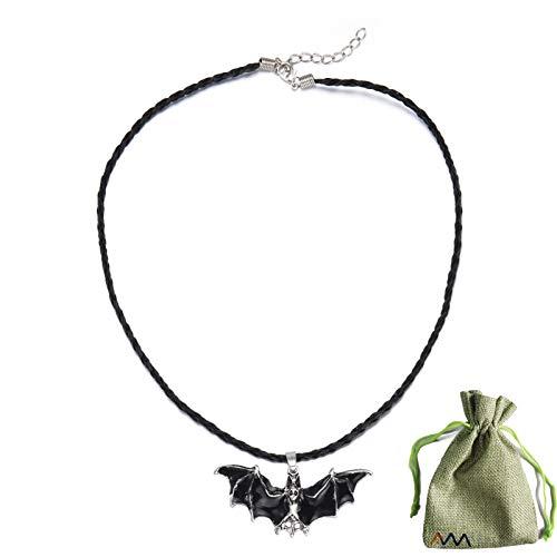 BMSWFDDLY 2021 Nuevo Collar de murciélago Punk, Personalidad de Halloween Gargantilla de alas de murciélago Simple Gargantilla de Vampiro Retro gótico para Hombre y Mujer