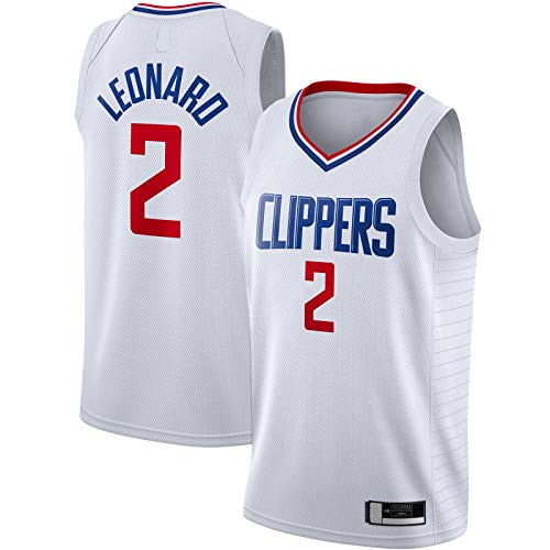 YUEJI Blanco -2020/21 Swingman Jersey Leonard Sudadera LA Basketball Jersey Clippers Mesh Top Sin Mangas #2 LA Association EditionKawhi Association Edition-L