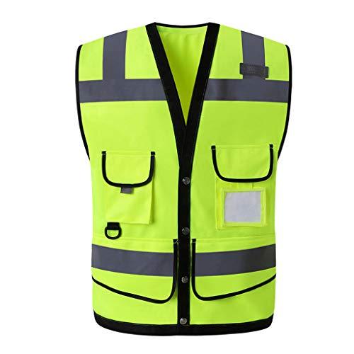 Veiligheidsvesten reflecterend vest Bouwingenieurwezen beschermende kleding verkeer waarschuwing groen auto fluorescerende mantel veiligheidstechniek
