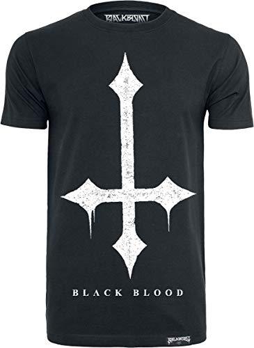 Black Blood Cross Homme T-Shirt Manches Courtes Noir L, 100% Coton, Regular/Coupe Standard