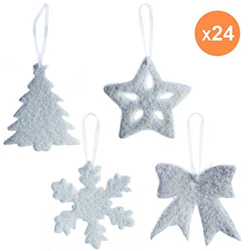Gisela Graham Gold Glitter Feuille pendaison arbre de Noël Décoration