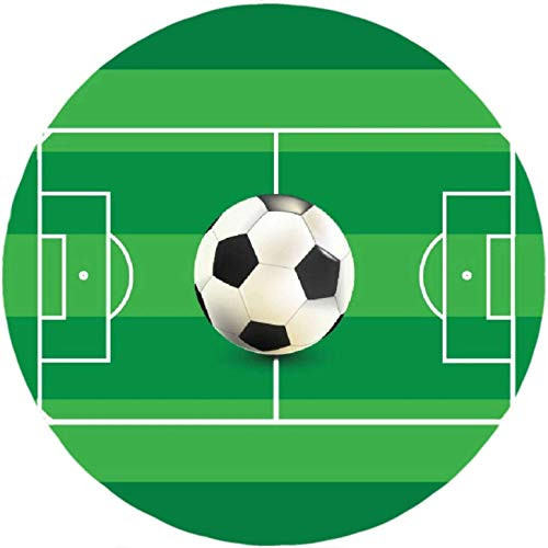 Fußball Thema-5 Runde Tortenaufleger 20CM - Geburtstag Tortenbild Zuckerbild Tortenplatte Oblate Kuchenzuckerplatte