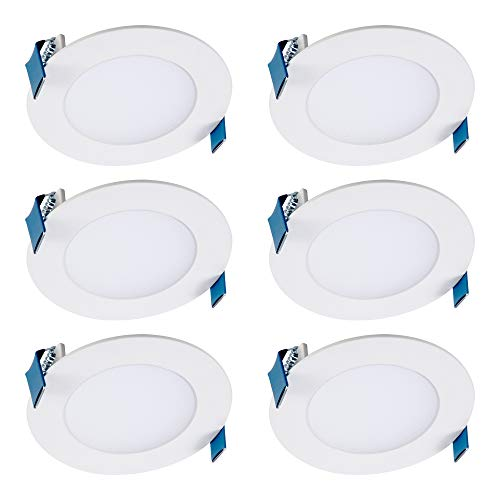 Halo HLB4069FS1EMWR-6PK HLB 4 in. Selectable CCT New Construction or Remodel Canless Kit(6 Pack) Recessed Integrated LED, White