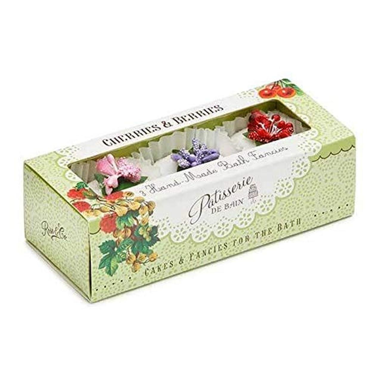 ステープルスケート耳[Patisserie de Bain ] パティスリー?ド?ベインチェリー&ベリー風呂は3×45グラムを溶かし - Patisserie de Bain Cherries & Berries Bath Melts 3 x 45g [並行輸入品]