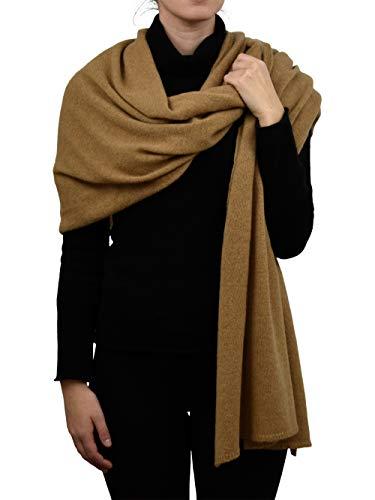 DALLE PIANE CASHMERE - Stola aus 100% Kaschmir - für Frau, Farbe: Kamel, Einheitsgröße