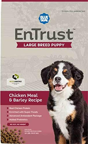 Blue Seal EnTrust Large Breed Puppy Chicken Meal & Barley (20 Pounds)