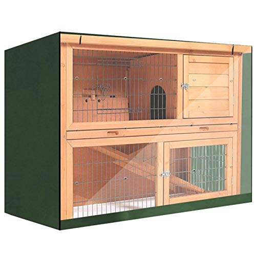 SALUTUYA Conejo Hutch Cubierta a Prueba de Polvo de Doble Capa para Jaula de Aves de Corral Universal(Green)
