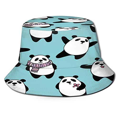 huagu Sombrero Pescador Unisex,Oso Panda de Dibujos Animados de Patrones sin Fisuras en,Plegable Sombrero de Pesca Aire Libre Sombrero Bucket Hat para Excursionismo Cmping De Viaje Pescar