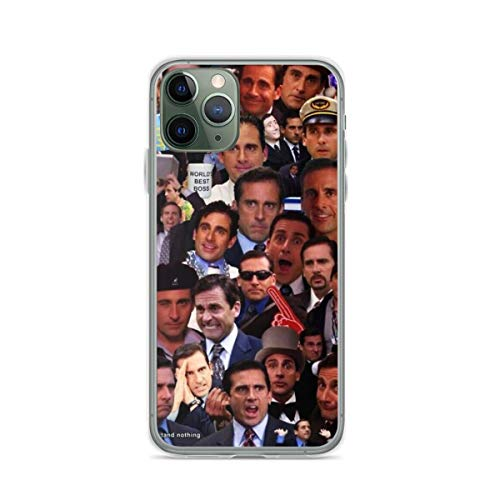 Phone Case Michael Scott The Office Collage Compatible with iPhone 6 6s 7 8 X XS XR 11 Pro Max SE 2020 Samsung Galaxy Charm Shockproof Absorption