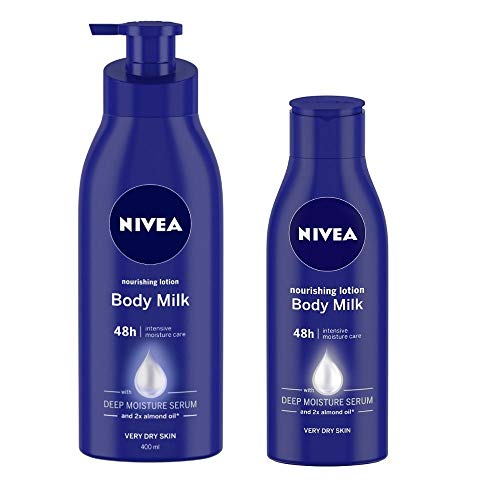 NIVEA Nourishing Lotion Body Milk, 400ml and NIVEA Nourishing Lotion Body Milk, 120ml