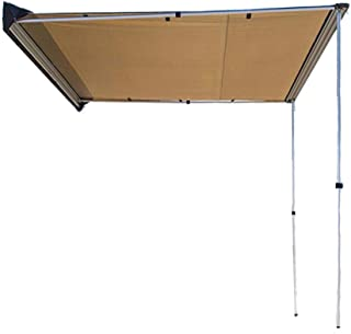 DANCHEL OUTDOOR Side Awning for Car SUV Mountable Driveway Sunshade Tarp Khaki 5x6.5ft