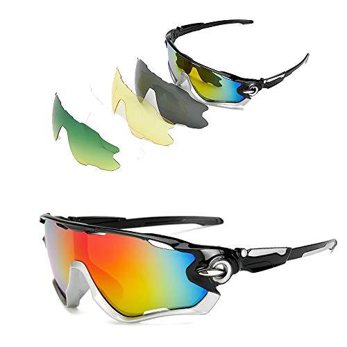 JFNX Gafas De Sol Deportivas Polarizadas, UV400 Gafas de Cic